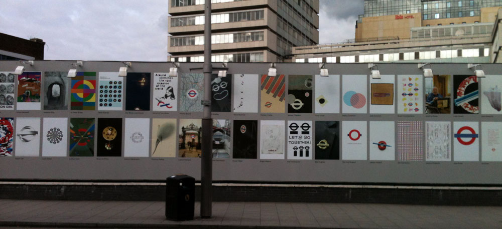 Posters outside Southwark Station